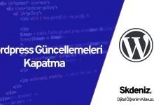 Photo of Wordpress Güncellemeleri Kapatma
